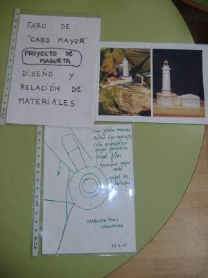 OBRA  COLECTIVA : MAQUETA  DEL  FARO  DE  CABO  MAYOR   1